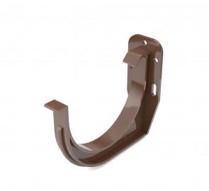 Держатель желоба ПВХ Бриза Bryza цвет коричневый RAL 8017