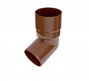 Колено трубы Бриза Bryza цвет цвет коричневый RAL 8017