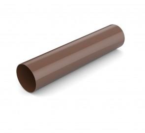 Труба водосточная Бриза Bryza цвет коричневый RAL 8017