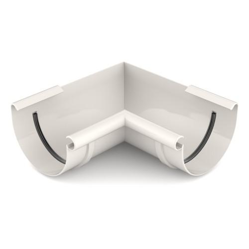 Угол желоба внутренний 90 градусов Бриза Bryza цвет белый RAL 9010