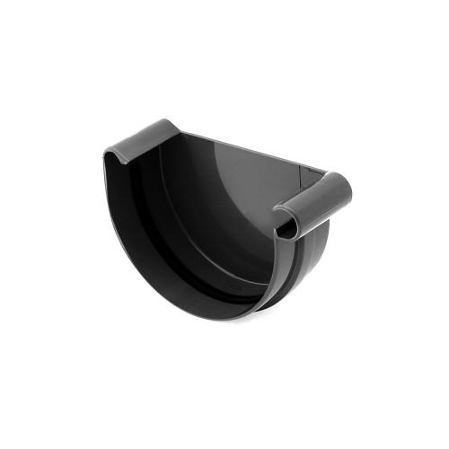 Заглушка желоба правая Бриза Bryza цвет черный (RAL 9005)