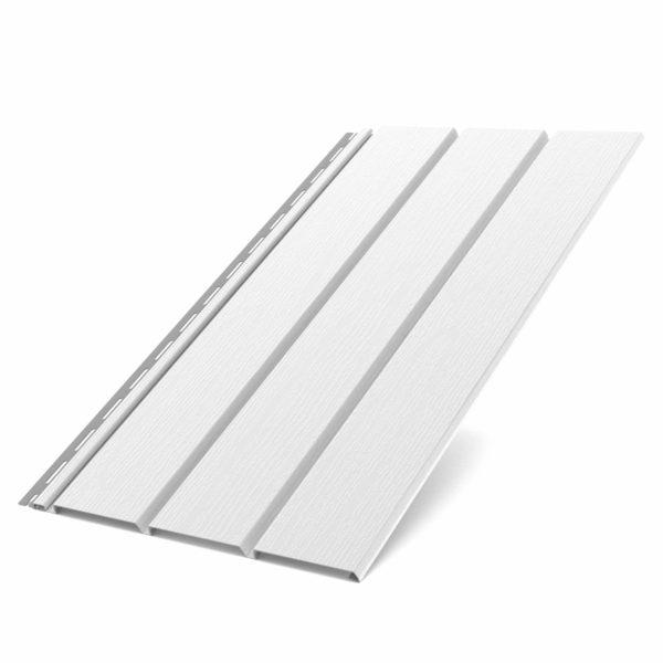 Софит Бриза Bryza виниловый для крыши цвет белый RAL 9010.