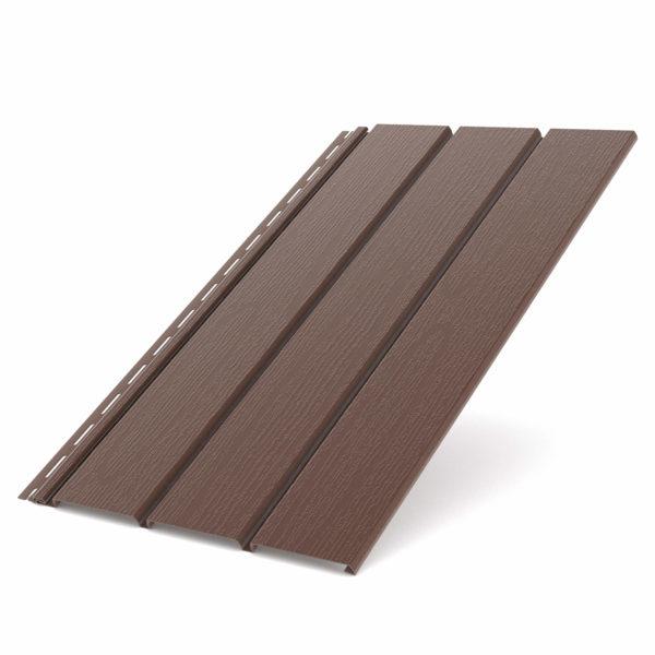 Софит Бриза Bryza виниловый для крыши цвет коричневый RAL 8017.