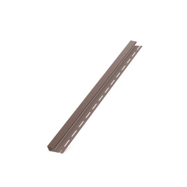 Стартовый j-профиль Бриза Bryza цвет коричневый RAL 8017