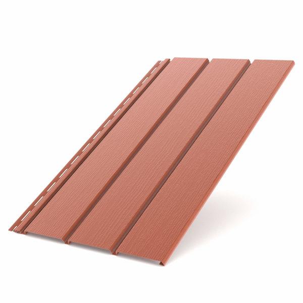 Софит Бриза Bryza виниловый для крыши цвет кирпичный RAL 8004.