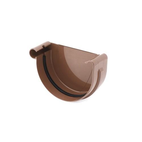 Заглушка желоба левая Бриза Bryza цвет коричневый RAL 8017