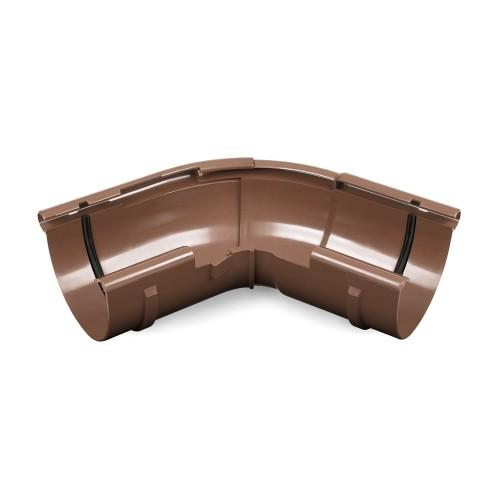 Угол желоба внешний регулируемый Бриза Bryza цвет коричневый RAL 8017