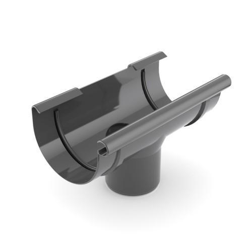 Воронка желоба Бриза Bryza диаметр 125 мм цвет графитовый RAL 7021