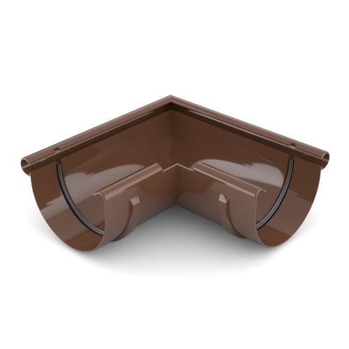 Угол желоба внешний 90 градусов Бриза Bryza цвет коричневый RAL 8017