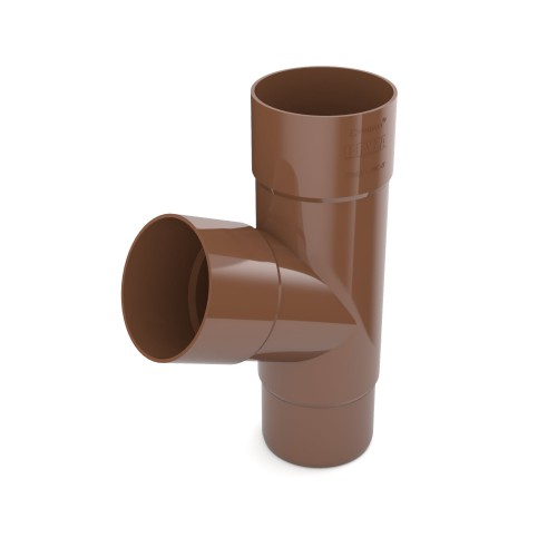 Тройник трубы Бриза Bryza цвет коричневый RAL 8017