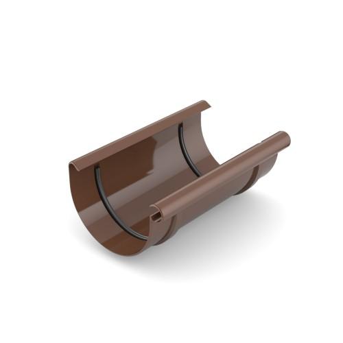Муфта желоба Бриза Bryza цвет коричневый RAL 8017
